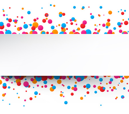 fun: Colorful celebration background with confetti. Vector Illustration. Illustration