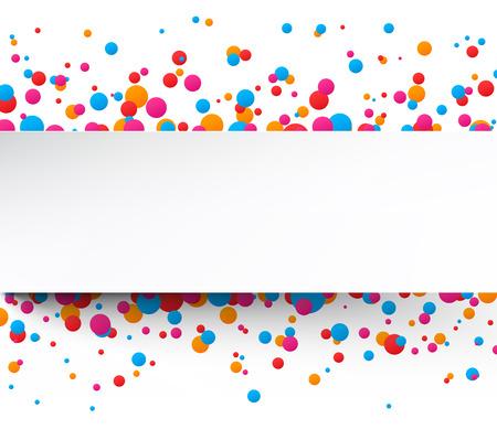 orange splash: Colorful celebration background with confetti. Vector Illustration. Illustration