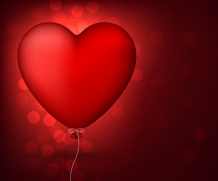 red balloon: illustration of red balloon heart Illustration