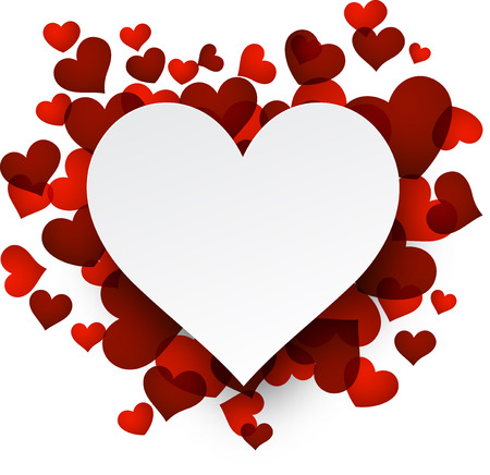 valentines day background: Love background with red hearts