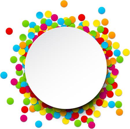 Colorful celebration background with confetti