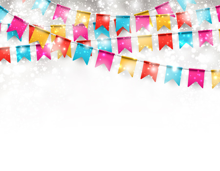 enjoyment: Celebrate banner Party flags with confetti.