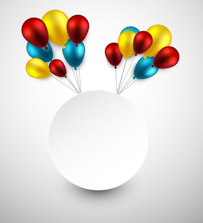 Celebration frame background with colorful balloons.  Vector