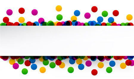 Colorful celebration background with confetti. Vector Illustration. Vektorové ilustrace