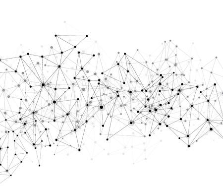 コミュニケーション社会のメッシュ。多角形の背景をネットワークします。ベクトル イラスト。