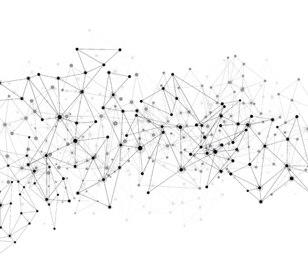 modeling: Communication social mesh. Network polygonal background. Vector illustration.