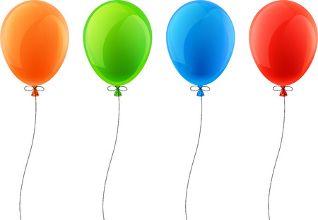 red balloon: Set of colorful celebration balloons. Vector illustration.