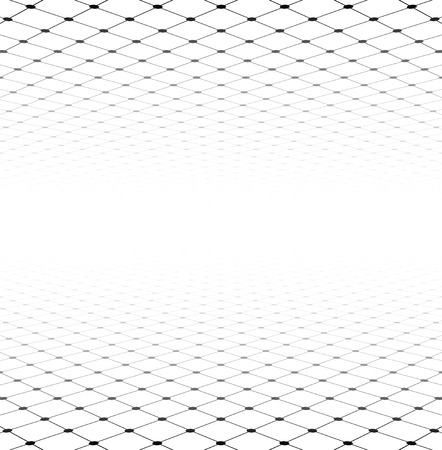 perspective grid: Perspective grid surface. Vector illustration.