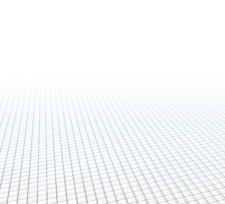 grid: Perspective grid surface. Vector illustration.
