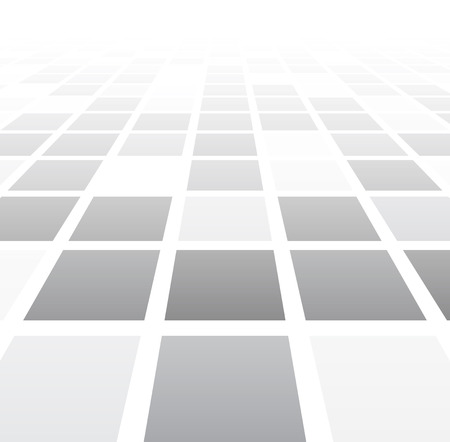 tile flooring: Perspective grey and white grid. Checkered surface. Vector illustration.