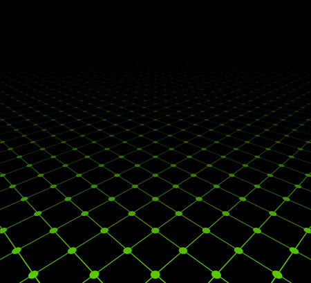 grid: Perspective grid dark surface. Vector illustration.