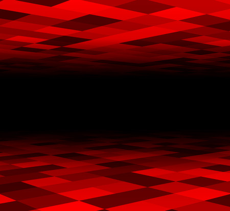 red black: Perspective dark grid. Checkered surface. Vector illustration.
