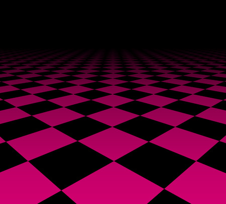 perspektiv: Perspective dark grid. Checkered surface. Vector illustration.