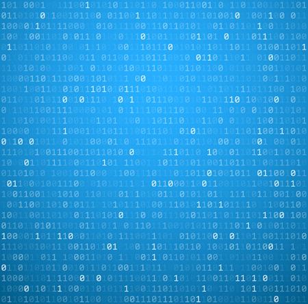 Binary fond bleu avec des chiffres. Vector illustration.