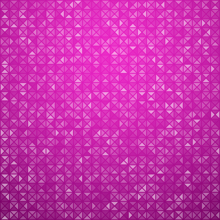 magenta decor: Technology pattern composed of magenta triangles. Vector background.