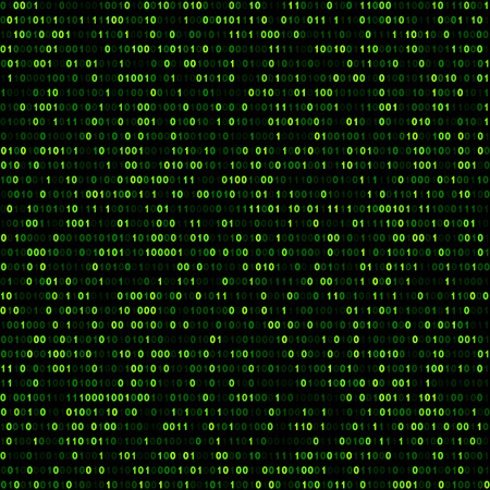 Binary background with green digits. Vector illustration. Illustration