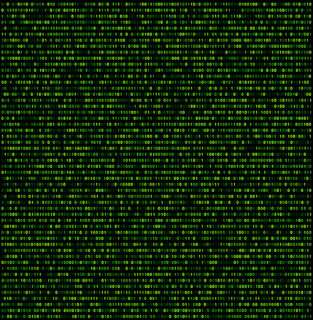 binary background: Binary background with green digits. Vector illustration. Illustration