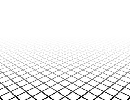 perspektiv: Perspektiv gallerytan. Vector illustration.