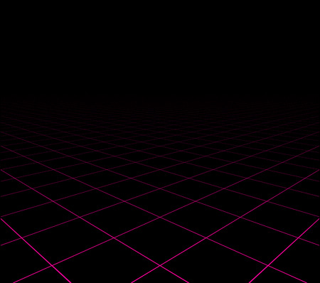 perspective grid: Perspective grid dark surface. Vector illustration.