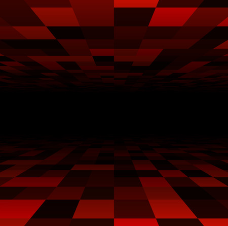 grid: Perspective dark grid. Checkered surface. Vector illustration.