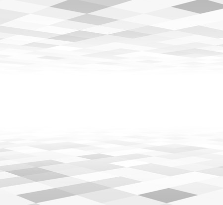 Perspective grey and white grid. Checkered surface. Vector illustration.