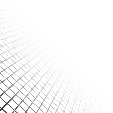 視点のグリッド サーフェスです。ベクトルの図。
