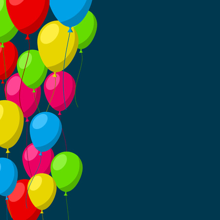 celebration background: Celebration background with flat balloons. Vector illustration.