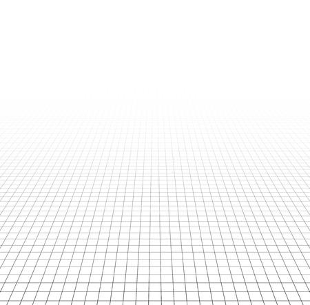 perspektiv: Perspective grid surface. Vector illustration.