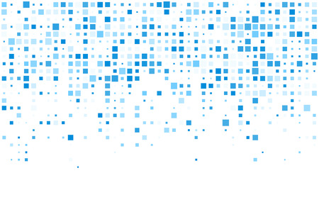 Technology pattern composed of blue squares. Vector background.