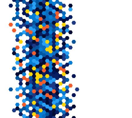 hexagons: Grainy pattern composed of hexagones. Honeycomb vector background. Illustration