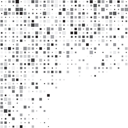 gray texture background: Technology pattern composed of grey squares. Vector background. Illustration