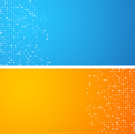 rounded rectangle: Technology circles pattern banners. Vector background.