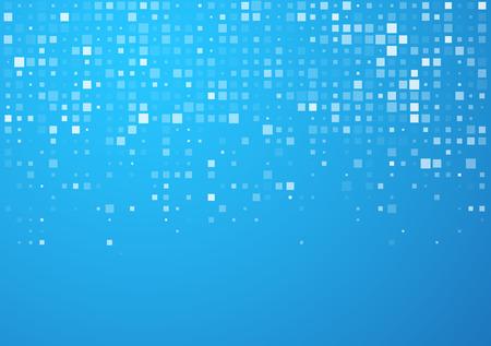 muster: Technologie Muster von blauen Quadraten. Vector Hintergrund. Illustration