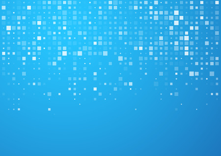 Technology pattern composed of blue squares. Vector background. Фото со стока - 42719875