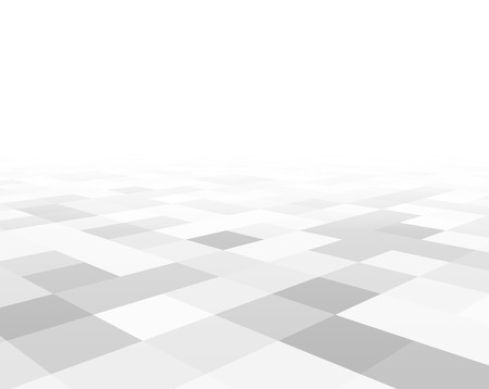 mosaic floor: Perspective grey and white grid. Checkered surface. Vector illustration.
