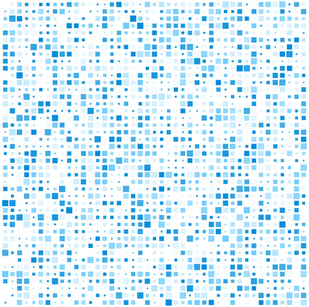 mosaic tiles: Technology pattern composed of blue squares. Vector background.