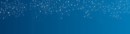 blue network: Blue social network mesh. Communication polygonal background. Vector illustration.