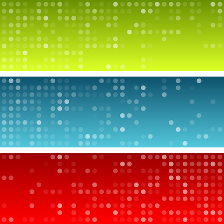 banners web: Technology circles pattern banners. Vector background.