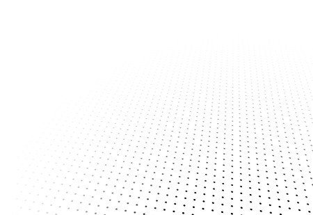 perspektiv: Perspective black and white grid. Surface with circles.  Illustration