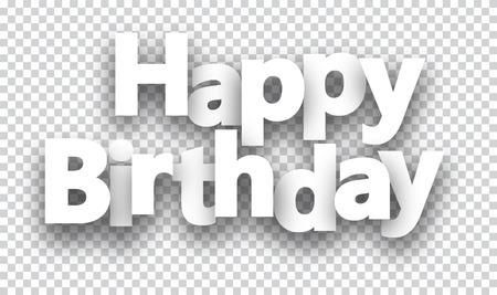 feliz: Feliz cumpleaños signo de papel sobre las células. Vectores
