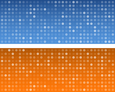 patron de circulos: Technology circles pattern banners.