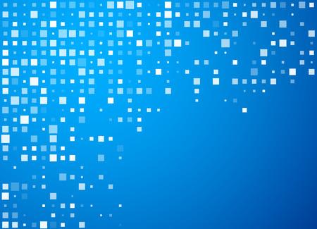 Círculos Tecnología Modelo azul de la bandera. Ilustración de vector