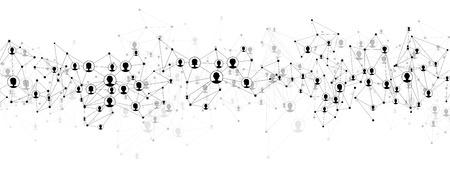 Communication maillage social. Réseau fond polygonale.