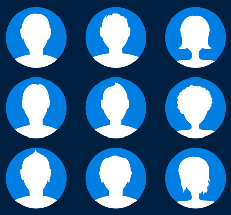 person: People icon set. Person symbols. Vector illustration.