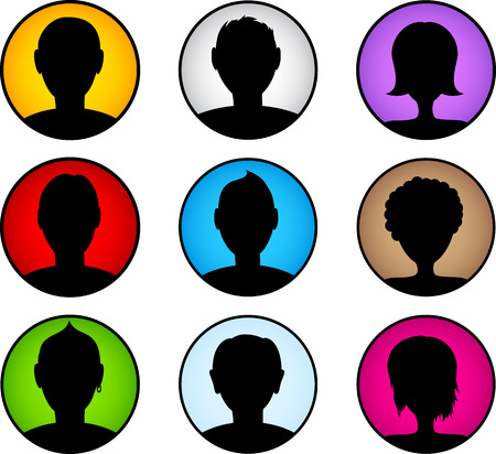 re: People icon set. Person symbols. Vector illustration.