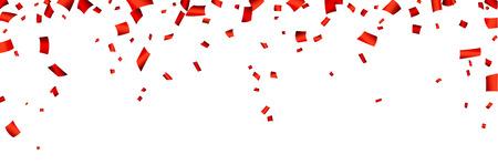 Célébration bannière avec des confettis rouge. Vecteur de fond. Banque d'images - 43320841