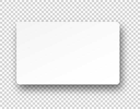 Ilustración vectorial de la hoja de papel en blanco con la sombra. Eps10. Vectores