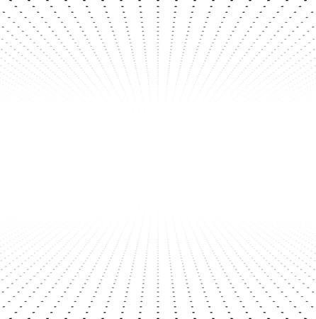 figuras abstractas: Perspectiva rejilla blanco y negro. Superficie con círculos. Ilustración del vector.