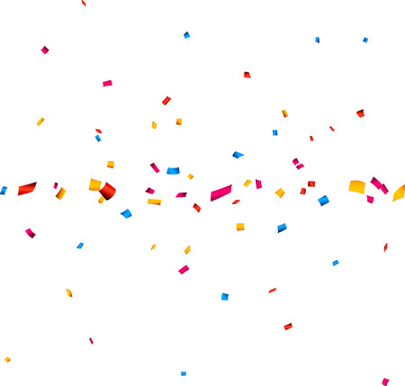 celebration background: Colorful celebration banner with confetti. Vector background.
