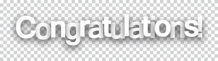 congratulations: Signo de papel Felicidades sobre las células. Ilustración del vector. Vectores